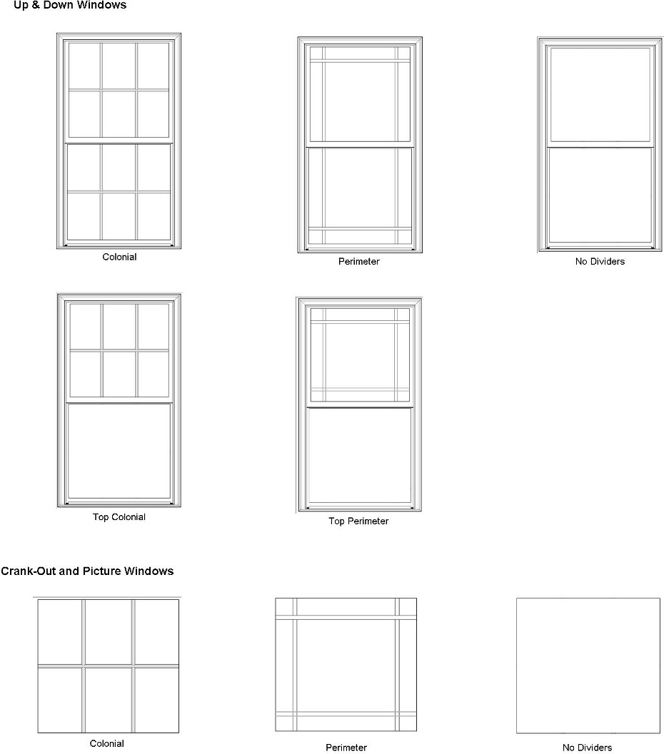 Bay or bow replacement windows for Replacement window sizes