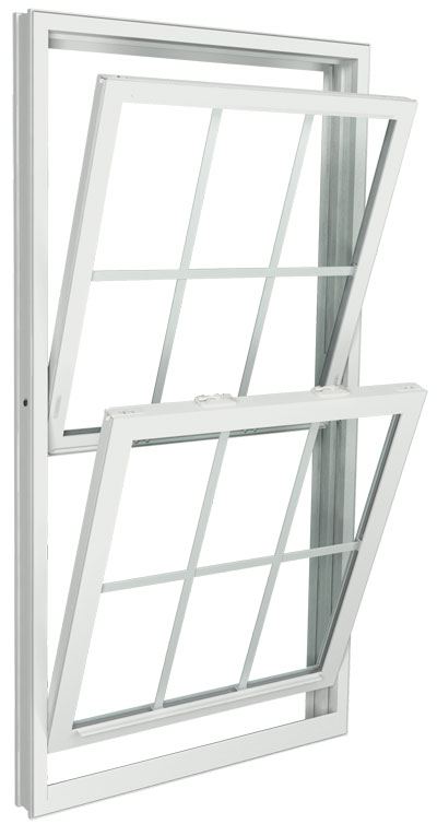 Interior View (tilting in for easy cleaning) | White | Colonial Glass Dividers