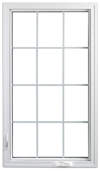 Interior View | White | Colonial Glass Dividers | Available Nested Crank Handle