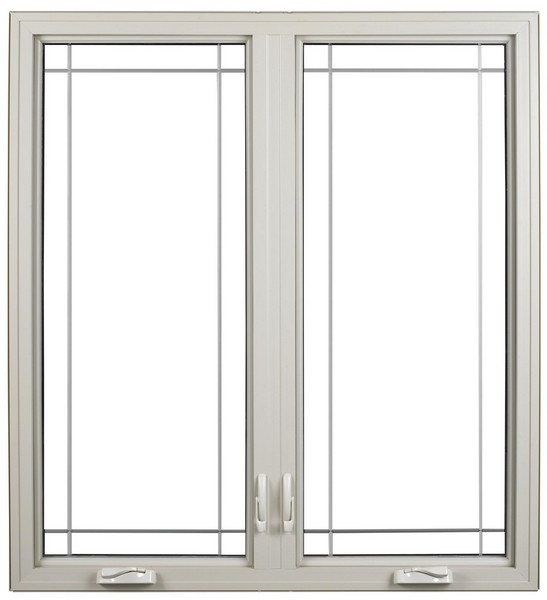 Interior View | White | Perimeter Glass Dividers | Nested Crank Handle | Double Wide