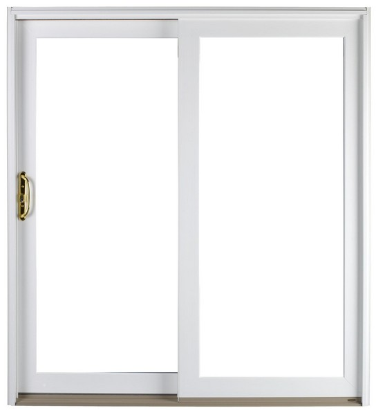 Exterior View | White | No Glass Dividers | Polished Brass Handle