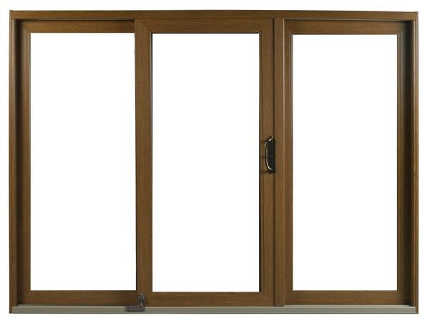 Interior View | Dark Oak Finish | No Glass Dividers | Oil-Rubbed Handle | Foot Bolt | 3 Panel Door