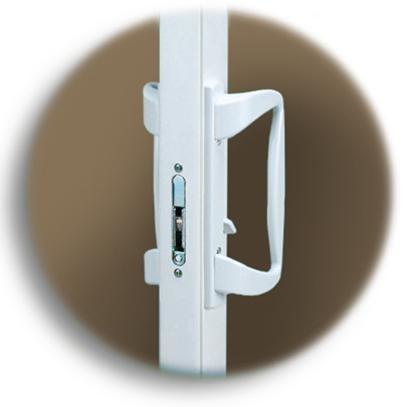 Interior & Jamb View | White Lock & Handle