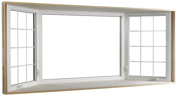 Interior View | White | Colonial Glass Dividers in Side Windows | Bay Window